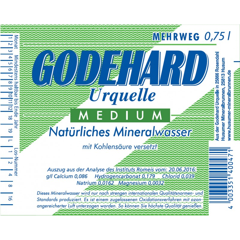 Godehart Medium 12 x 0,75 l